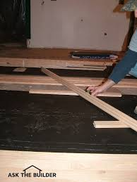 hardwood floor installation ask the builderask the builder
