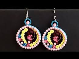 handmade paper earrings diy quilling how to make paper quilling earrings handmade