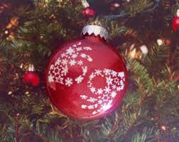 reindeer t rex glitter ornament