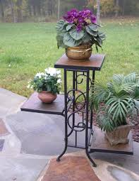 Wooden Patio Plant Stands by Plant Stand Outdoor Planters On Stands D6c442cb8c1d 1000