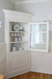 White Kitchen Hutch Cabinet Dining Room Corner Cabinet Provisionsdining Com