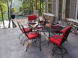 Black Rod Iron Patio Furniture Red Wrought Iron Patio Furniture Bistro Set Home Design Black