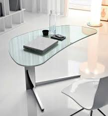 Home Office Glass Desk Home Office Appearance More Modern With Glass Desk Home