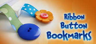 ribbon bookmarks kids craft ribbon button bookmarks three broadcasting