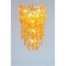 Orange Glass Chandelier Italian Venetian Murano Glass Chandelier Vintage Antique Vintage