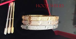 love bracelet with diamonds images Cartier love bracelet pave diamonds pink gold for sale at great jpg