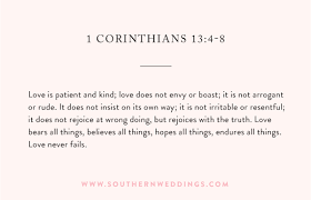 1 corinthians 13 wedding the best wedding ceremony readings southern weddings
