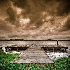 dramatic wallpaper dramatic hdr dock and sky ipad wallpaper