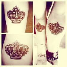 crown couple tattoos king and queen ink tattoos pinterest