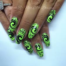 neon lime green u0026 black swirls stamping fun friday youtube