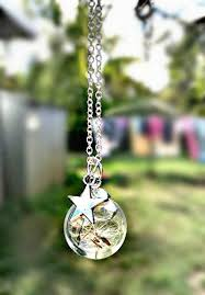 necklace pendant gift box images Dandelion star charm necklace pendant with sterling silver chain jpg