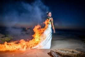 trash the dress trash the dress bride sets dress on fire in controversial photo