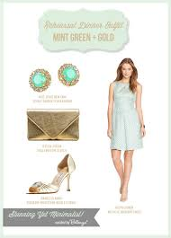 mint green and gold rehearsal dinner inspiration unique