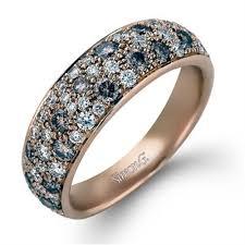 fine wedding rings images Simon g diamond pave set 18k rose gold womens wedding bands jpg