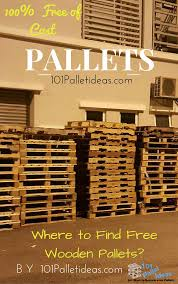 where to get pallets for free