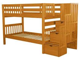 Images Bunk Beds Bunk Beds Stairway Honey 579 Bunk Bed King