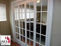 Replace Bifold Closet Doors With Sliding Mirrored Doors With Sash Bars Replaced The Sliding Mirror