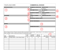commercial invoices for exporting templates export commercial invoice template export commercial invoice