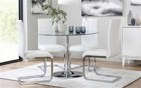 bar height glass table brilliant round glass dining table and four chairs dining table set