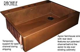 Discount Apron Front Kitchen Sinks by Copper Farmhouse Sinks Hand Crafted In The Usa