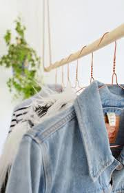 diy hanging clothes rail burkatron