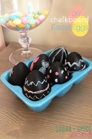 faux eggs for decorating diy chalkboard easter eggs sugar spice and glitter