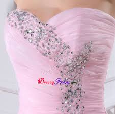 beaded ruffled baby pink prom dress in california