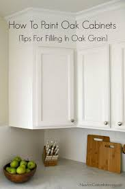 tips for painting oak kitchen cabinets how to paint oak cabinets tips for filling in oak grain