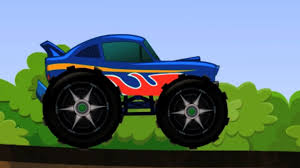 monster truck big truck chase cartoon toy truck kids