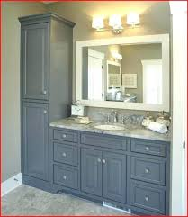 bathroom vanity with linen tower awesome vanity and linen tower traditional bathroom new york in