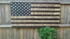 Military Flag Order American Flag Soldiers Creed Wood American Flag Wooden