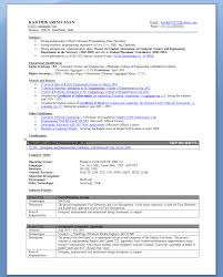 Resume Job Template by Short Resume Template