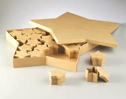 large star shaped christmas advent calendar paper mache box set