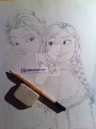 frozen elsa and anna sketch by sharsel on deviantart