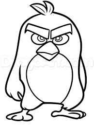 draw red angry birds movie step step