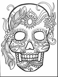 superb day of dead sugar skulls coloring pages with day of the