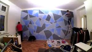 diy geometric wall painting youtube
