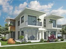 modern home exterior design with beige paint color home interior