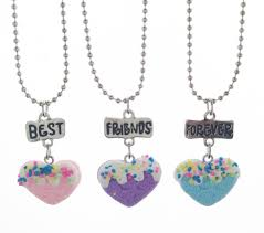 wedding necklace gifts images Children best friends necklace polymer clay peach heart food bff jpg