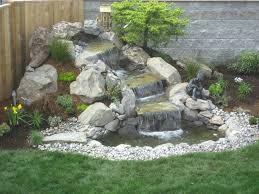 backyard pondless waterfall designs diy pond landscape ideas small