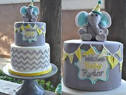 baby shower cakes beautiful baby shower cakes with elephan