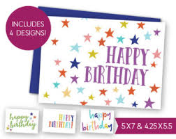 happy birthday card printable gift tag bundle