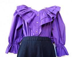 blouse ruffles ruffled blouse etsy