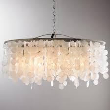 modern capiz shell linear chandelier linear chandelier nickel