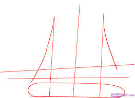 how to draw a pirate ship step by step boats transportation