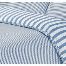 Blue Striped Comforter Set Blue And White Striped Bedding Set Amazing Blue And White