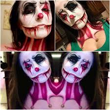 an evil clown look i did on myself tonight mehron face body paint