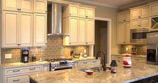 Kitchen Glazed Cabinets Antique White Glazed Kitchen Cabinets Home Decor And Design