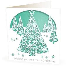christmas card laser cut trees laser cutting cards and