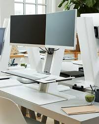 dual monitor stand up desk humanscale quickstand dual stand up desk converter